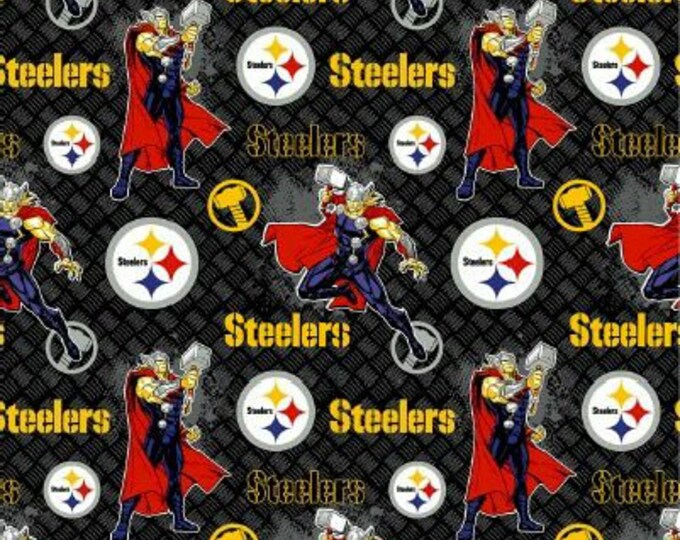 Steelers Fabric - Thor Fabric - By the 1/4 Yard - Quick Shipping ** LIMITED EDITION **