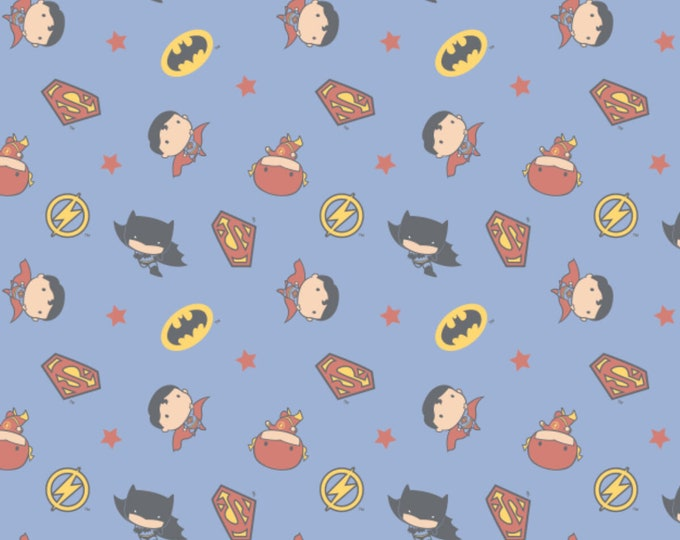 DC Boy  Heros Fabric - Boy Hero Fabric - By the 1/4 Yard - Quick Shipping - 100% Cotton Fabric - Quilting Fabric - Comic Book Fabric