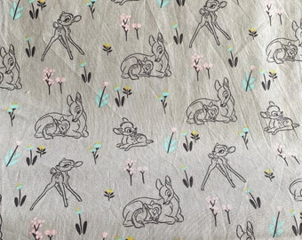 Bambi Fabric - Disney Fabric - By the 1/4 Yard - Quick Shipping - Perfect for Mask Making