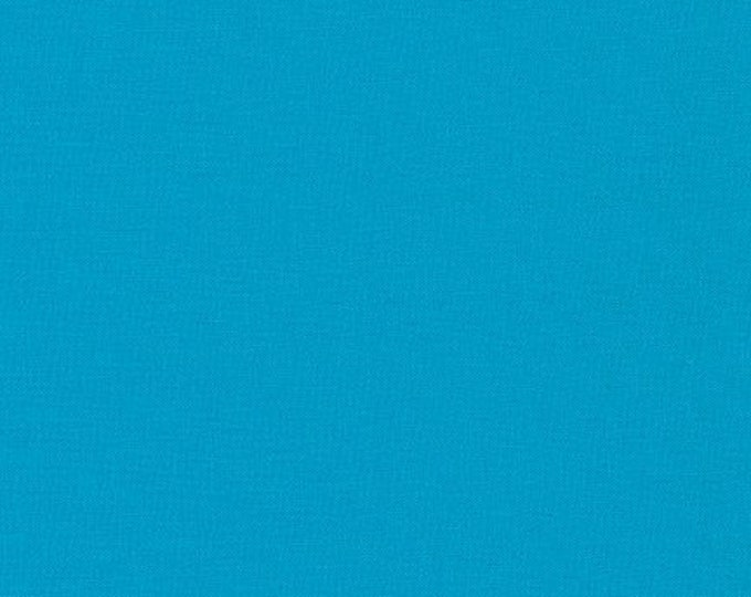 Turquoise Kona Cotton Fabric - By the 1/4 Yard - Quick Shipping - Perfect for Mask Making