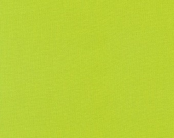 CHARTREUSE Kona Cotton Fabric - By the 1/4 Yard - Quick Shipping - Perfect for Mask Making - Bright Green Kona Cotton Fabric