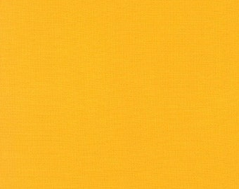 Corn Yellow Kona Cotton Fabric - By the 1/4 Yard - Quick Shipping - Perfect for Mask Making