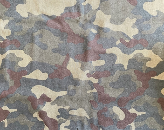 Camouflage Fabric - By the 1/4 Yard - Quick Shipping - Cotton Fabric - Green Camo Fabric