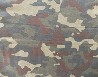 Green Camouflage Fabric - By the 1/4 Yard - Quick Shipping - Cotton Fabric - Green Camo Fabric