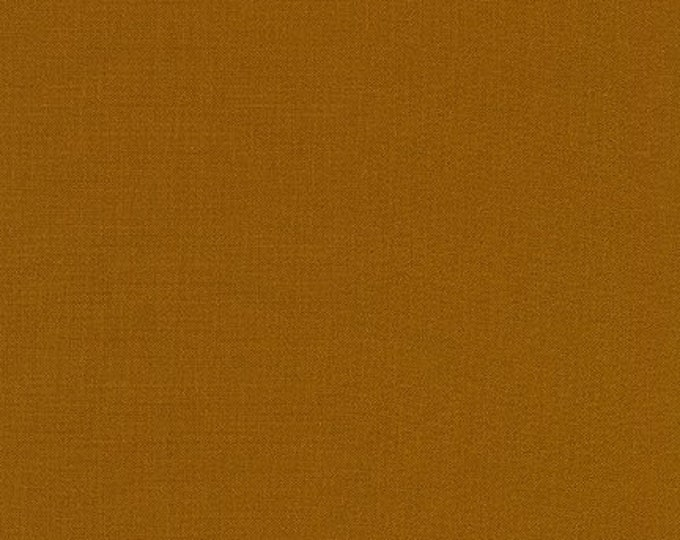 Roasted Pecan Kona Cotton Fabric - By the 1/4 Yard - Quick Shipping - Perfect for Mask Making - Brown Kona Cotton - 100% Cotton