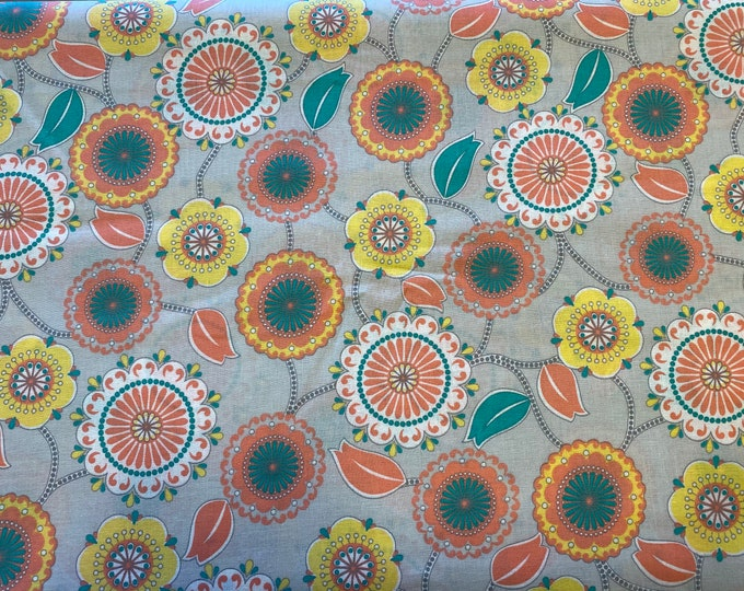 Tropical Floral Fabric  - By the 1/4 Yard - Quick Shipping - Perfect for Mask Making