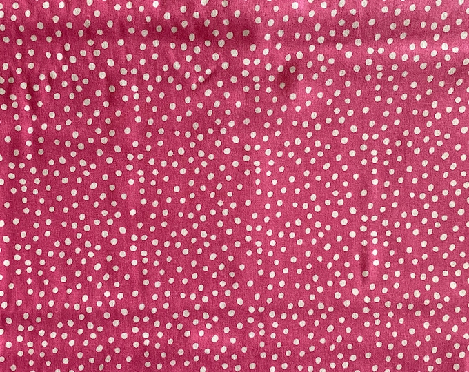 Pink Fabric - Polka Dot Fabric - By the 1/4 Yard - Quick Shipping - Perfect for Mask Making