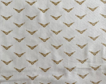 Harry Potter Fabric - Golden Snitch Fabric - By the 1/4 Yard - Quick Shipping - 100% Cotton Fabric - Quilting Fabric