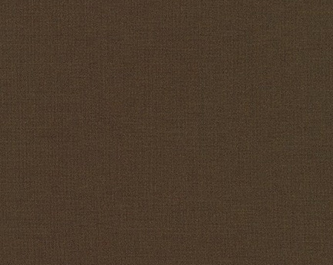 Chocolate Brown Kona Cotton Fabric - By the 1/4 Yard - Quick Shipping - Perfect for Mask Making - Chocolate Kona Cotton - 100% Cotton