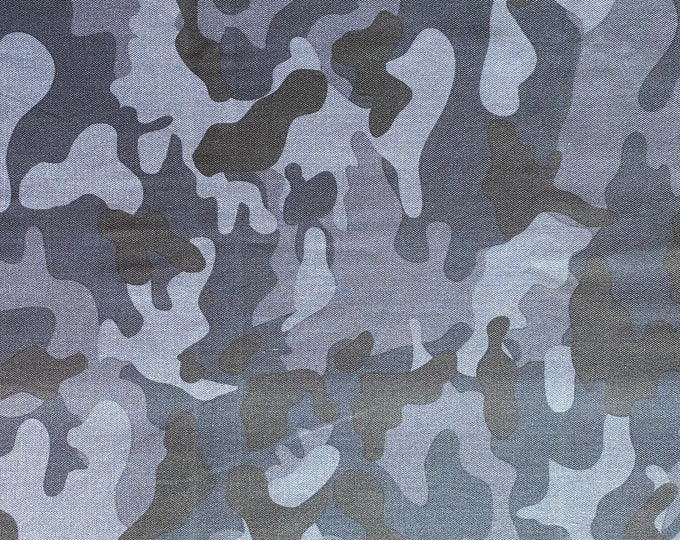 Blue  Camouflage Fabric - By the 1/4 Yard - Quick Shipping - Perfect for Mask Making