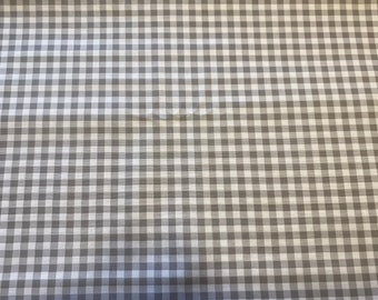 Gray Checks Fabric - By the 1/4 Yard - Quick Shipping - Perfect for Mask Making
