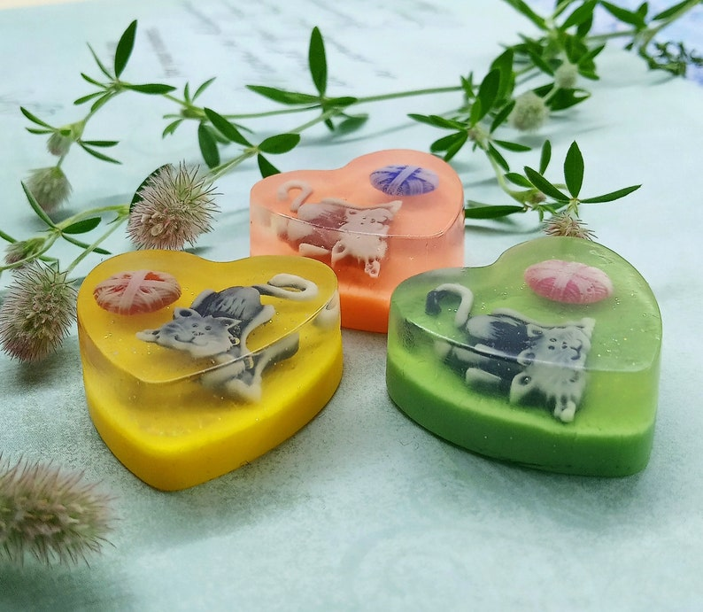 Wedding Shower Favors Baby Shower Favors 10pcs Kitty Mini Soaps Thank You Guest Gifts Handmade Soap Birthday Soap Favors Souvenir Soap