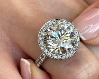 Ladies White Gold 1.5 Carat Manufactured /'Lab Grown/' 1.5 ct Princess Cut Diamond 750 18ct White Gold Ring Jewelery