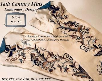 18th Century MITTS Machine Embroidery Design