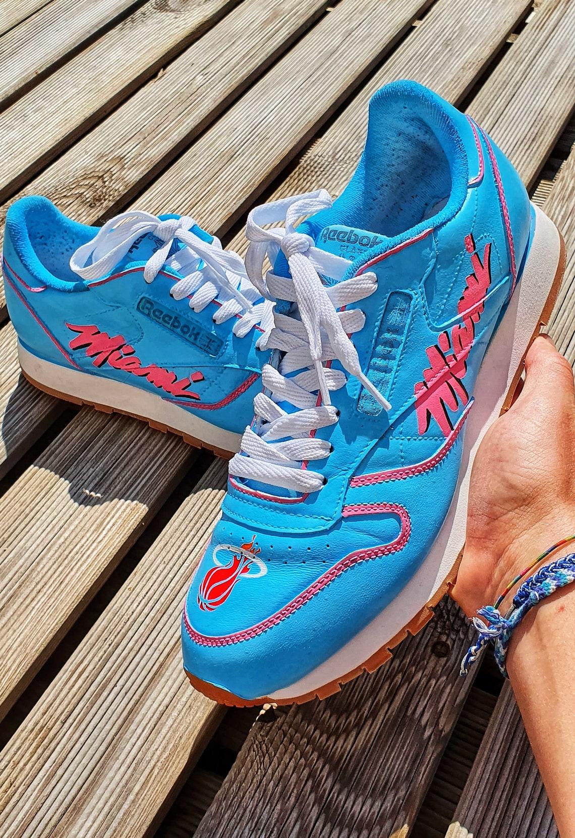 Custom sneaker Miami heat