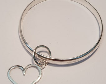 Chunky Heart Charm in Sterling Silver H-275