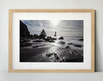 Reynisfjara Beach, Iceland / Island (Poster, Fine Art Print, Leinwand) | Landschaft, Strand