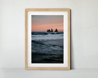 Reynisfjara, Island / Iceland (Poster, Fine Art Print, Leinwand) | Landschaft, Meer