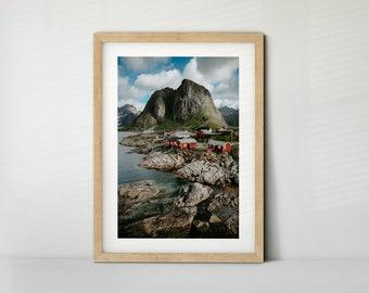 Hamnoy, Lofoten, Norwegen (Poster, Fine Art Print, Leinwand) | Landschaft, Berge