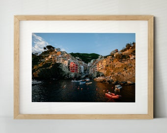 Riomaggiore, Cinque Terre, Italien (Poster, Fine Art Print, Leinwand) | Landschaft, Stadt