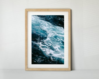 Waves in the Sea / Azores (Poster, Fine Art Print, Canvas) | Landscape, Water