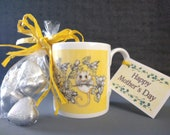 Mother's Day , Fine Bone China Dormouse Design Mug, Comes with Chocolate Caramel Hearts as a boxed gift.  All printed and designs in the UK