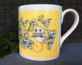 Fine Bone China Mug, Dormouse Design from original artwork .Comes as a boxed Gift. Gift options available. All Printed in the UK.