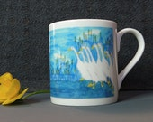 Duck Design, Fine Bone China Mug,  from original artwork illustration. Comes as a boxed gift, Gift option available.  All printed in the UK