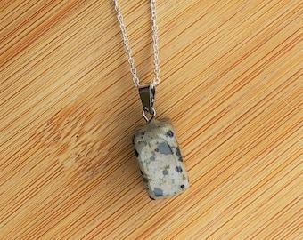 boho healing jewelry dalmation stone necklace Dalmation Jasper choker on black cord purifying jewelry dainty gemstone necklace