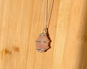 Healing Crystal Necklaces, Many Gemstones Available, Wire wrapped healing crystal jewelry