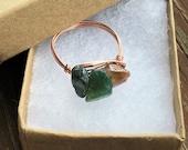 Healing Crystal Ring, Healing Gemstone Ring, Gemstone Rings, Gemstone Jewelry, Crystal Rings, Irregular Bead Rings, Wire Wrapped Ring