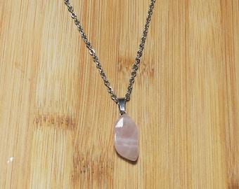 Simple Bezel Set Pendant Natural Gemstone Collection P1482 13.90 gms Beautiful Rose Quartz Gemstone Jewelry Pendant Sale