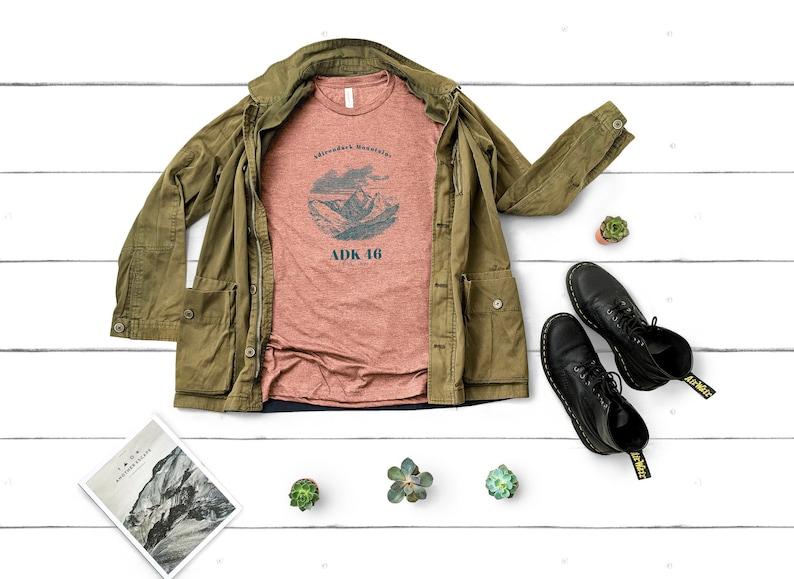 Adirondack Mountains Backcountry T-Shirt Adventure Shirt ADK 46er Hiking Shirt Hiking Lover Gift Nature Lover Gift Gift for Her