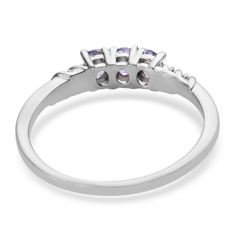 Engagement Ring With Silver Pendant Gift For Her Tanzanite Ring and Pendant Necklace in Platinum Over Sterling Silver December Birthstone