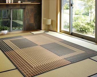 191 x 250 cm rush tatami rug carpet Ukyo BE non-slip type Made in Japan