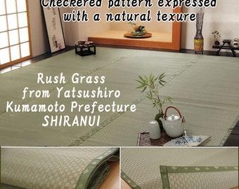 """176 x 176 cm Made in Japan Rush tatami fabric carpet """"Shiranui"""" from Yatsushiro, Kumamoto Prefecture"""