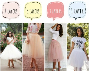 Tulle Skirt 150 Colors Women's Casual  Fay Tulle Skirt Bridal  Women Tulle Skirt Wedding Blush Tulle Skirt Valentine's
