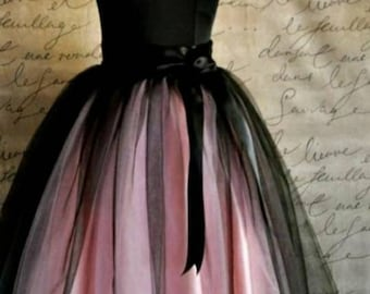 Fluffy tulle skirt/ multicolored tulle skirt/ individual tailoring/ custom sizes/ skirt for the holiday/ big sizes/ skirt as a gift/tutu