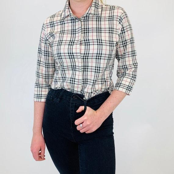 Burberry shirt. Vintage Burberry Nova check shirt.