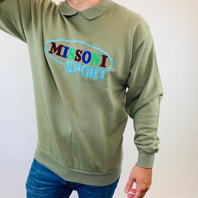 Vintage Missoni polo style sweatshirt Missoni Jumper