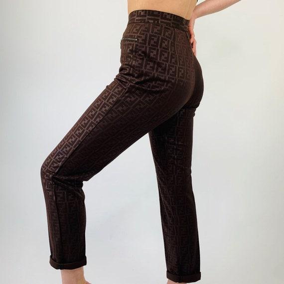 Fendi trousers. Vintage Fendi monogram pants.