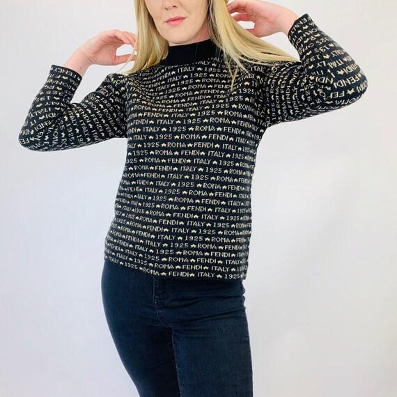 Fendi jumper. Vintage Fendi monogram knitted jumpe
