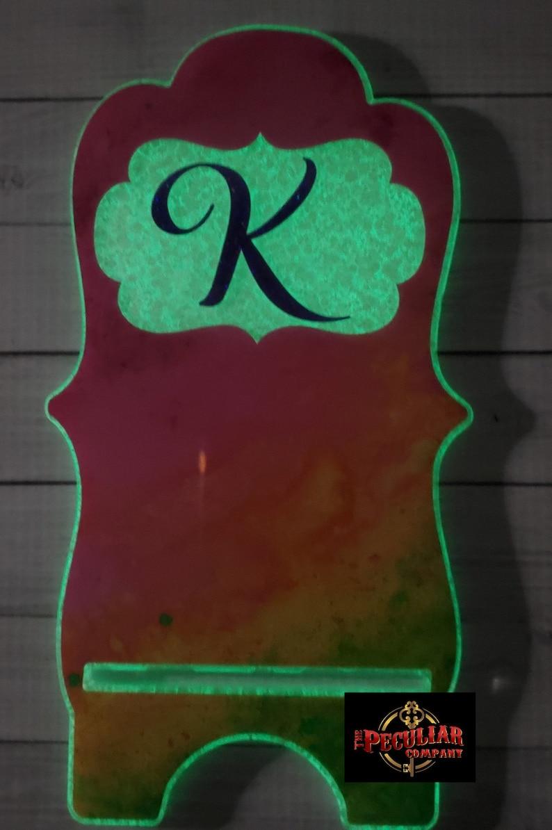 Glows-in-the-dark Rainbow Phone Stand