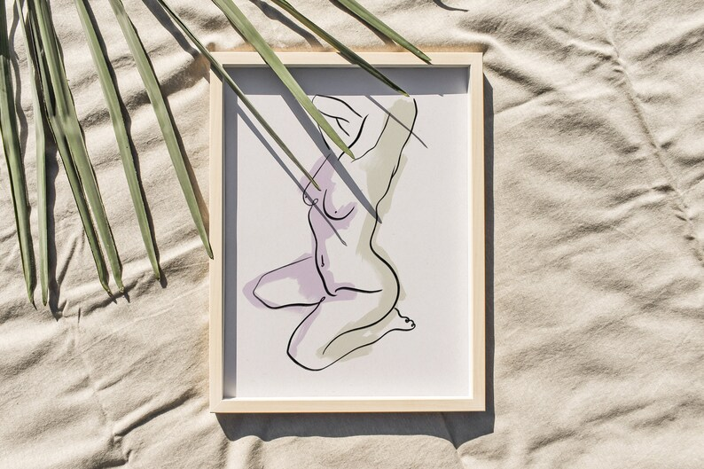 Body No.1 Print A3 A4 A2 Abstract Female Body