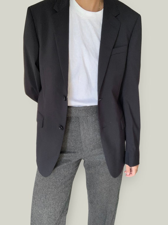 Miu Miu Navy Blue Oversized Mens Blazer