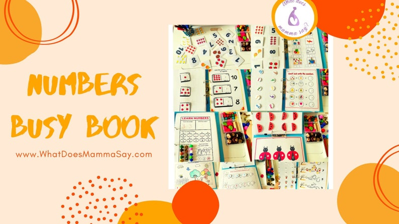 Numbers Busy Book/Printable Busy Book/Worksheets numbers 1 to image 0