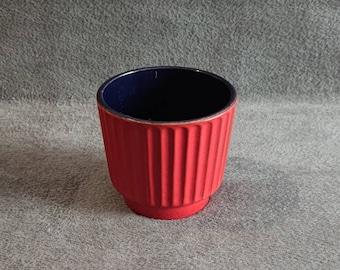 Marei red vintage planter '70 retro
