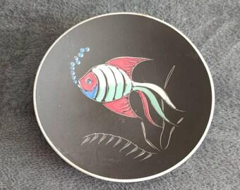 Ruscha wall Art plate fish vintage