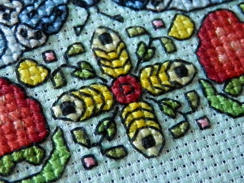 Summer cross stitch pattern PDF