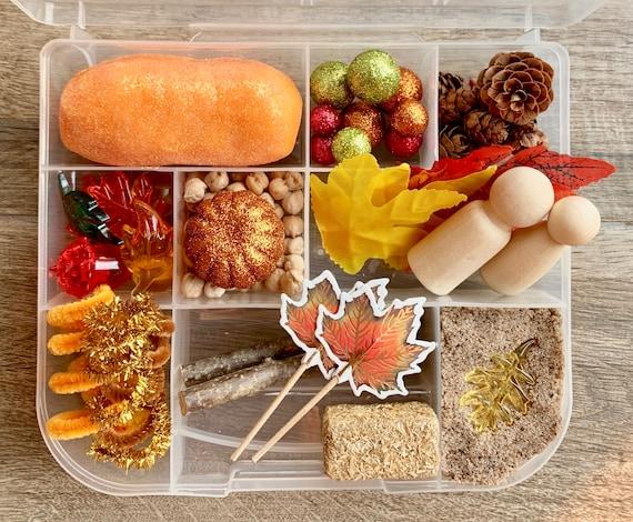 Fall Play Dough and Magic Sand Sensory Kit